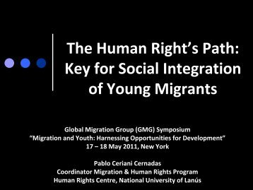 Key for Social Integration of Young Migrants - Global Migration Group