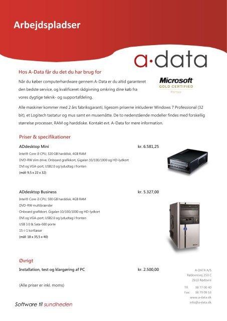 Arbejdspladser - A-Data