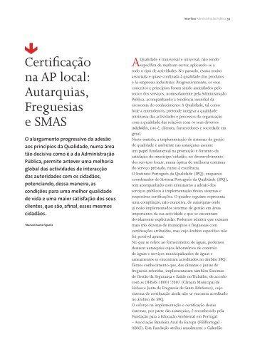 """""""Interface Administração Pública """"...(pdf) - IPQ"""