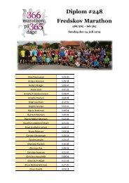 Lene Diplom #248 Fredskov Marathon - Annette Fredskov