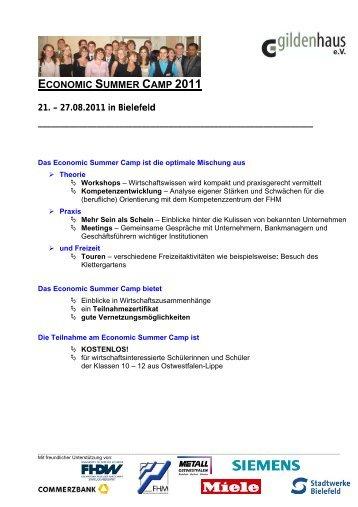 ECONOMIC SUMMER CAMP 2011