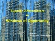 Windows of Opportunity - Lockheed Martin