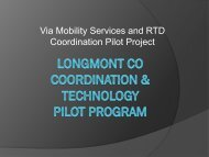 Via Mobility Services and RTD Coordination Pilot Project