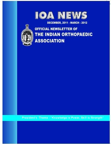 Newsletter March 2012 - Indian Orthopaedic Association