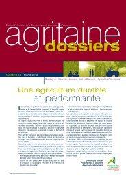 gritaine Dossier n°33 - Chambre Régionale d'Agriculture Aquitaine