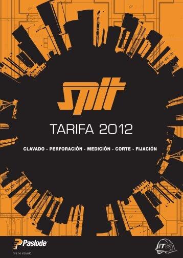 Tarifa 2012 - Diteco S.A.