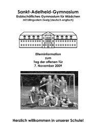Elterninformation - Sankt-Adelheid-Gymnasiums Bonn