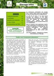 N° 33 – Mars 2012 - Chambre d'agriculture de l'Indre
