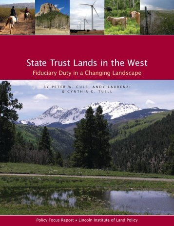 State Trust Lands in the West - Marine Conservation Agreements
