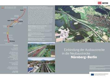 Einbindung der Ausbaustrecke in die Neubaustrecke Nürnberg–Berlin
