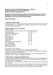Bestyrelsesmøde i Friluftsrådet København – Kreds 22 Referat af ...