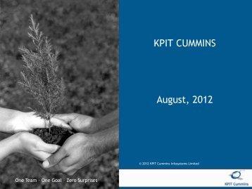 KPIT Cummins Investor Presentation