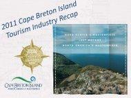 Industry Presentation - Destination Cape Breton Association