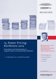 13. Power Pricing- Konferenz 2012 - Convent
