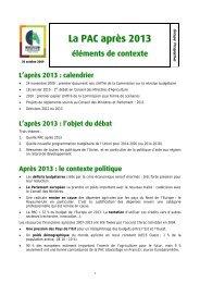 La PAC après 2013 - Chambre régionale d'agriculture