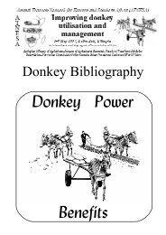 Donkey Bibliography - ATNESA Animal Traction Network for Eastern ...