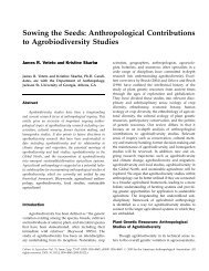 Sowing the Seeds: Anthropological Contributions to Agrobiodiversity ...