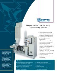 Compact Series Trim and Scrap Repelletizing Systems