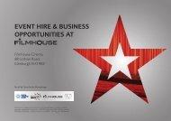event hire & business opportunities at - Filmhouse Cinema Edinburgh
