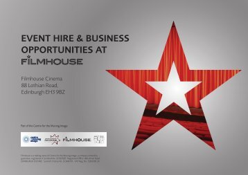 event hire & business opportunities at - Filmhouse Cinema Edinburgh