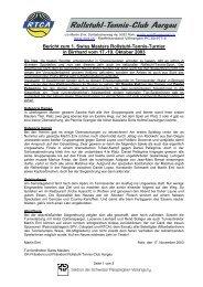 Bericht zum 1. Swiss Masters Rollstuhl-Tennis-Turnier in ... - RTCA