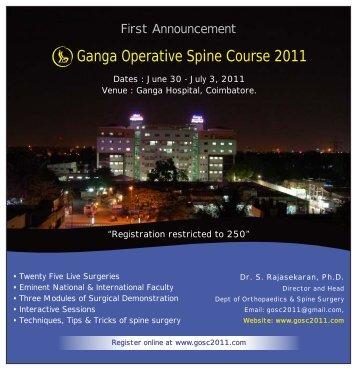 Ganga Operative Spine Course 2011 - Orthopaedic Principles
