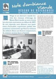 bulletin viande avril.indd - Chambre régionale d'agriculture