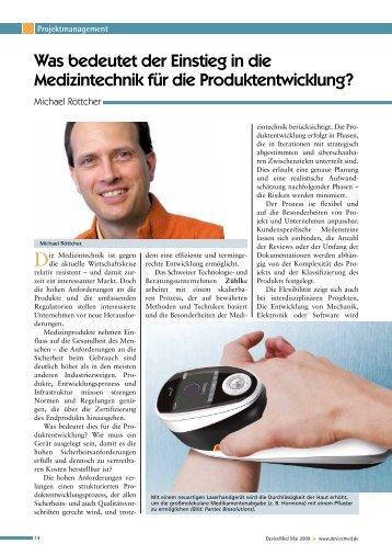Was bedeutet der Einstieg in die Medizintechnik für die ... - Zühlke