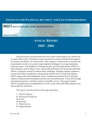 The Institute for National Security and Counterterrorism