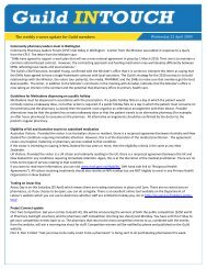 The weekly e-news update for Guild members - Pharmacy Guild of ...