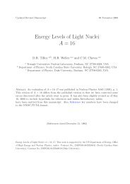 Energy Levels of Light Nuclei A = 16 - Triangle Universities Nuclear ...