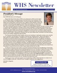 President's Message - Wound Healing Society