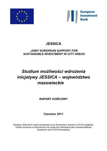 Studium możliwości wdrożenia inicjatywy JESSICA – województwo ...