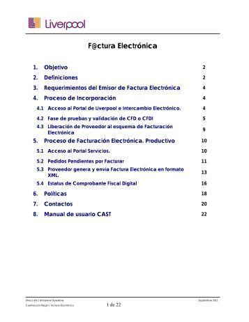Manual Proveedor Factura Electrónica Servicios - GS1 México