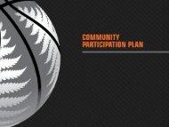 Community Participation Plan Presentation - Basketball New Zealand