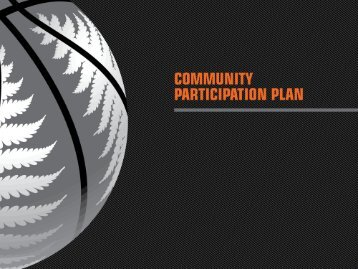 Community Participation Plan Presentation - Basketball New Zealand