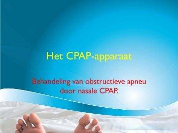 Het CPAP-apparaat - UZ Leuven