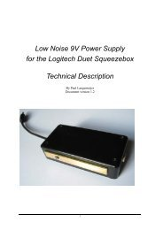 Low Noise 9V Power Supply for the Logitech Duet Squeezebox ...