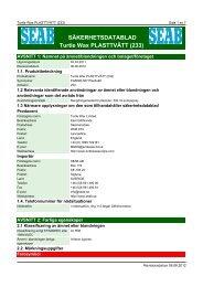 Säkerhetsdatablad (MSDS) (372.9 KB - pdf) - Jula