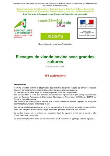 Inosys elevages laitiers avec grandes cultures chambre for Chambre agriculture mayenne