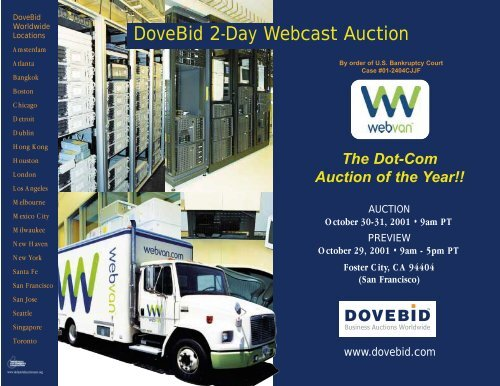 Dovebid 2 Day Webcast Auction