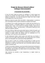 Monsieur Gérard Lefèvre Directeur de la CCI - Chambre d ...