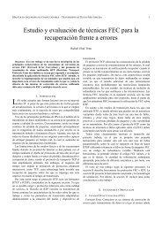 Estudio y evaluación de técnicas FEC para la recuperación ... - GRC