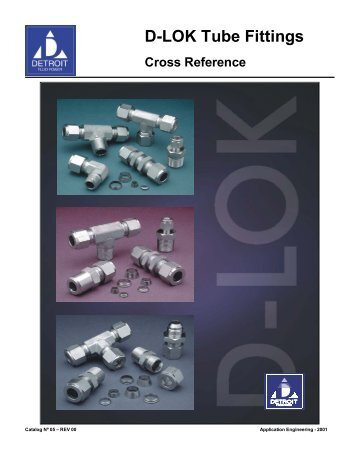 D-LOK Tube Fittings - DETRON