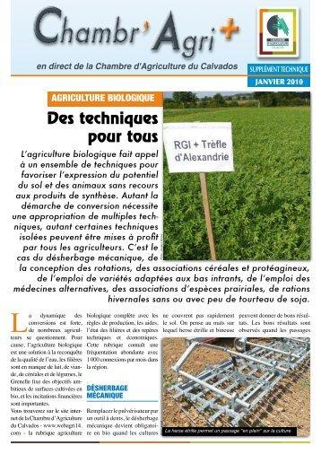 Cahier technique aveyron bio promotion de l 39 agriculture - Chambre d agriculture normandie ...