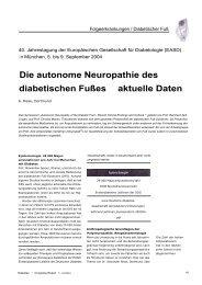 Die autonome Neuropathie des diabetischen ... - Werner Sellmer