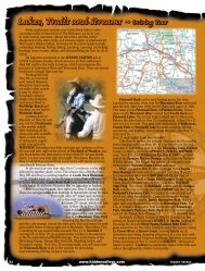 Lakes, Trails and Streams ~ Driving Tour - Hidden Valleys of ...
