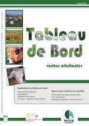 le tableau de bord en élevage allaitant - Chambre d'Agriculture des ...