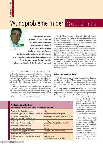 Wundprobleme in der Geriatrie - AWA