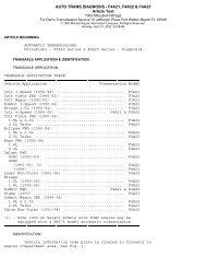 AUTO TRANS DIAGNOSIS - F4A21, F4A22 & F4A23 Article ... - Webs